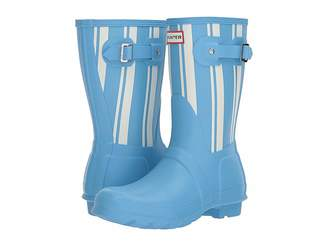 Hunter Garden Stripe Short Rain Boots Women's Rain Boots