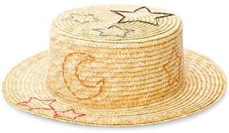 Ruslan Baginskiy embroidered straw hat