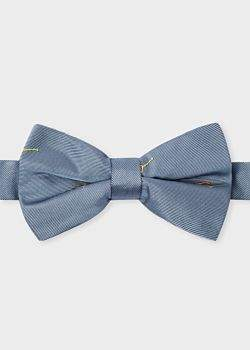 Paul Smith Men's Grey Embroidered 'Sunglasses' Silk Bow Tie