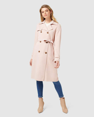 Juliana Petite Long Textured Coat
