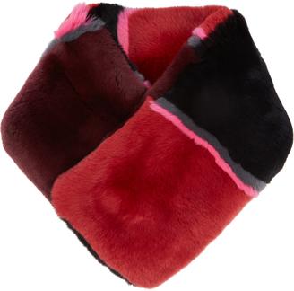 DIANE VON FURSTENBERG Striped rabbit-fur scarf $348 thestylecure.com