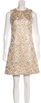 Dolce & Gabbana Matelassé Floral Dress