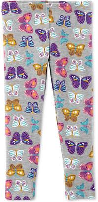 Carter's Baby Girls Butterfly-Print Leggings