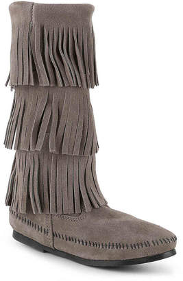 Minnetonka Calf Hi 3 Layer Fringe Western Boot - Women's
