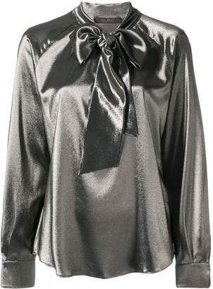 Max Mara neck-tied long sleeve blouse