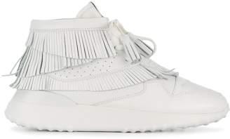 Tod's flatform hi-top sneakers