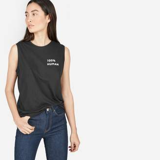 Everlane The 100% Human Muscle Tank in Small Print