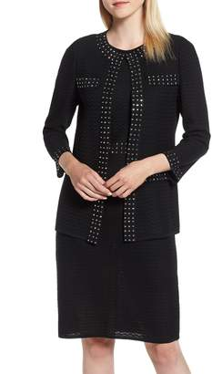 Ming Wang Studded Knit Jacket