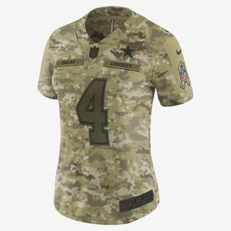 Nike NFL Dallas Cowboys Salute to Service Limited Jersey (Ezekiel Elliott) Women's Football Jersey