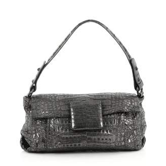 Nancy Gonzalez Grey Leather Handbag