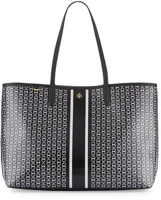 Tory Burch Gemini Link Tote Bag, French Gray $195 thestylecure.com