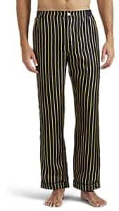 Sleepy Jones Men's Henry Striped Silk Pajama Pants - Navy