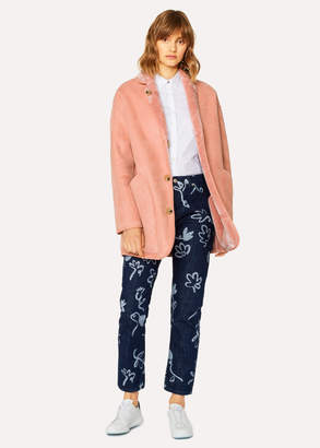 Paul Smith Women's Dusky Pink Faux Fur Reversible Coat