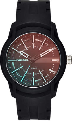 Diesel Men's Armbar Black Silicone Strap Watch 45mm DZ1819