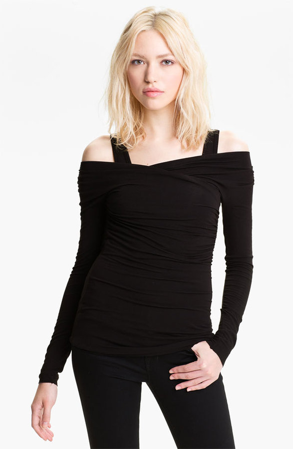 Bailey 44 'Ride The Lightning' Ruched Off Shoulder Top