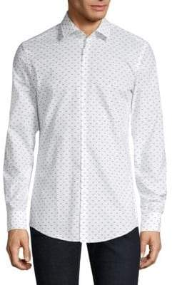 HUGO Kenno Firefly Print Button-Down