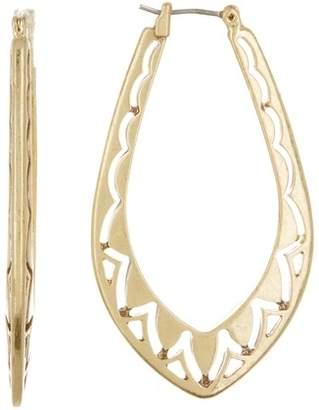 Lucky Brand Open Work Hoop Earrings