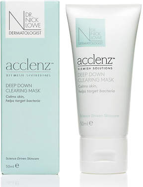 Dr Nick Lowe acclenz Deep Down Clearing Mask 50ml