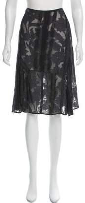 Dries Van Noten Knee-Length Silk Skirt