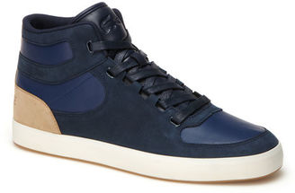 add987aaba Lacoste LIVE Vedren leather and canvas high-top trainers