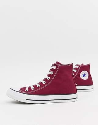 Converse Chuck Taylor All Star hi burgundy sneakers