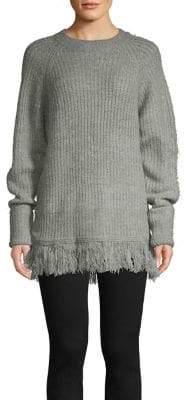 Vero Moda Fringe Hem Ribbed Sweater