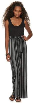 de496cbf5a50 As U Wish Juniors  Paperbag Waist Jumpsuit