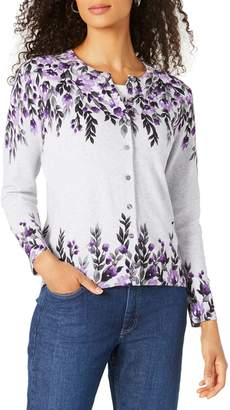 Karen Scott Floral Button-Down Cardigan