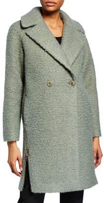 Emporio Armani Sage Boucle Cocoon Coat