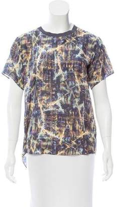 Theyskens' Theory Printed Silk Top