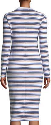 ENGLISH FACTORY Striped Twisted-Waist Sheath Dress