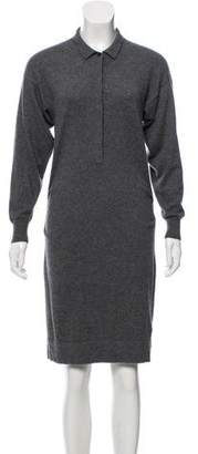 Burberry Cashmere Knit Long Sleeve Midi Dress