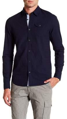 Scotch & Soda Textured Long Sleeve Shirt