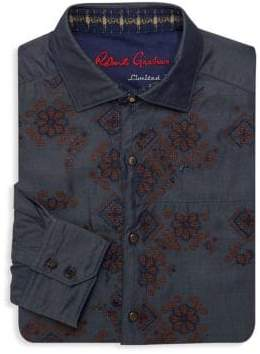 Robert Graham Tile Embroidered Dress Shirt