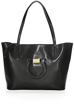 Salvatore Ferragamo Women's City Gancini Leather Tote