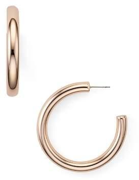 Rebecca Minkoff Chunky Tube Baby Hoop Earrings