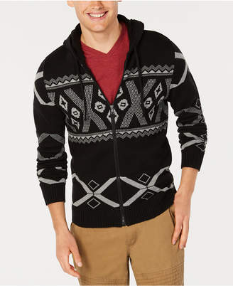 American Rag Men Ski Geometric Hooded Sweater