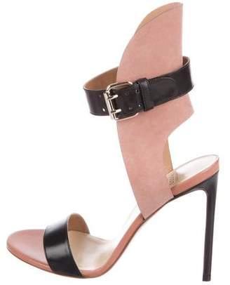 Francesco Russo Leather Ankle-Strap Sandals