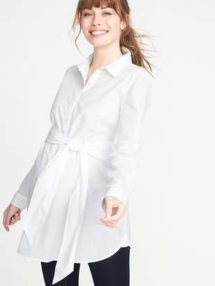 Old Navy Maternity Tie-Waist Tunic Shirt
