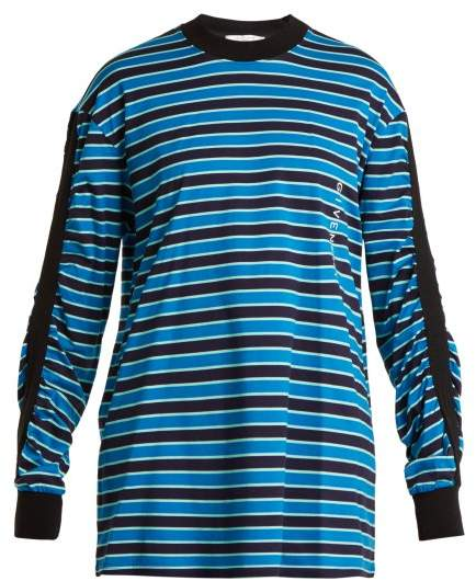 Striped cotton sweatshirt