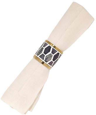 Mela Artisans Gramercy Napkin Ring - Gray/White