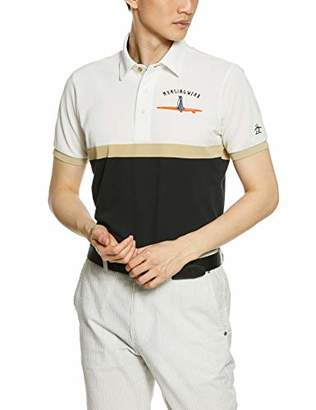 Munsingwear (マンシングウェア) - [マンシングウェア] 半袖シャツ(ニット) MGMNJA04X メンズ WHBK(ホワイト×ブラック) 日本 M (日本サイズM相当)