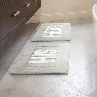 Jean Pierre His and Hers Cotton 2 Piece Bath Rug Set