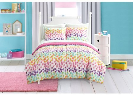 Mainstays Kids Spotty Rainbow Bed in a Bag Bedding Set