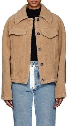 Off-White Women's Faux-Shearling Oversized Jacket