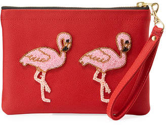 Tea & Tequila Vegan Flamingo Clutch Bag, Red