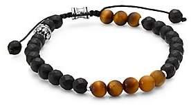 Dakota Jonas Studio Men's Onyx & Tiger's Eye Beaded Bracelet