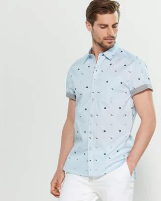 Kenneth Cole Flip Flop Short Sleeve Sport Shirt