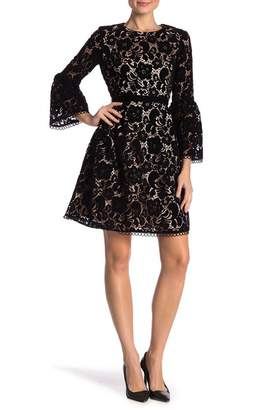 Eliza J Lace Bell Sleeve Dress