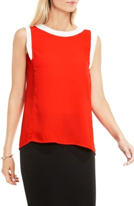 Women's Vince Camuto Colorblock Sleeveless Top $69 thestylecure.com